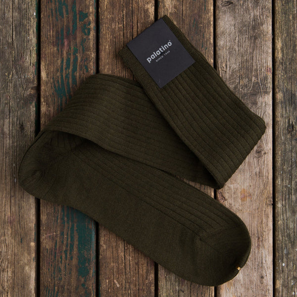 Palatino wool socks dark olive