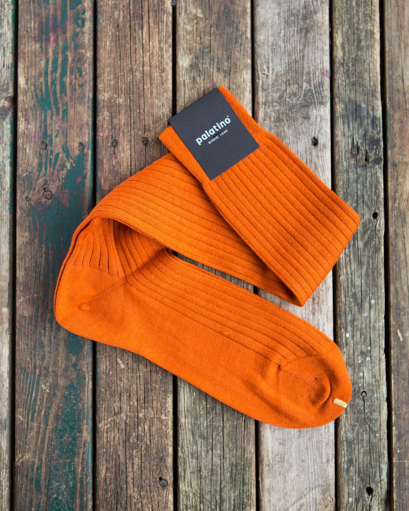Orange wool socks Palatino Rome