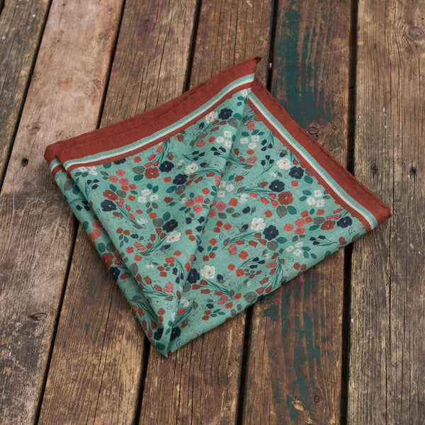 The Vintage Floral pocket square