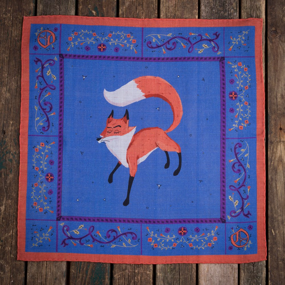 The Ancient Fox pocket square