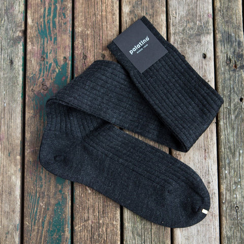 Charcoal grey wool socks Palatino Rome