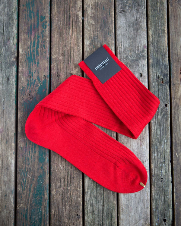 Red wool socks Palatino Rome