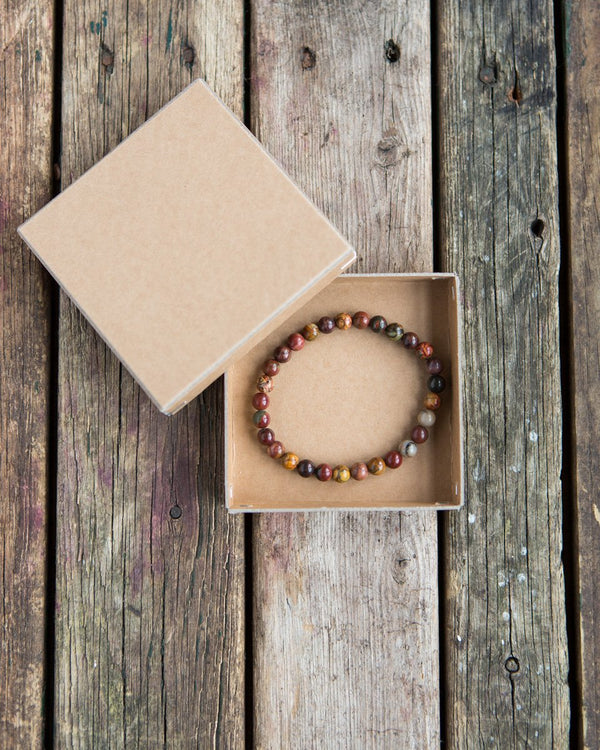 6 mm gemstone bracelet autumn