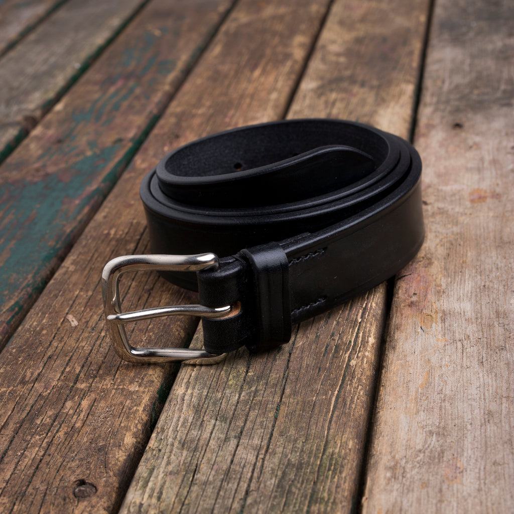 Englsih black bridle leather belt