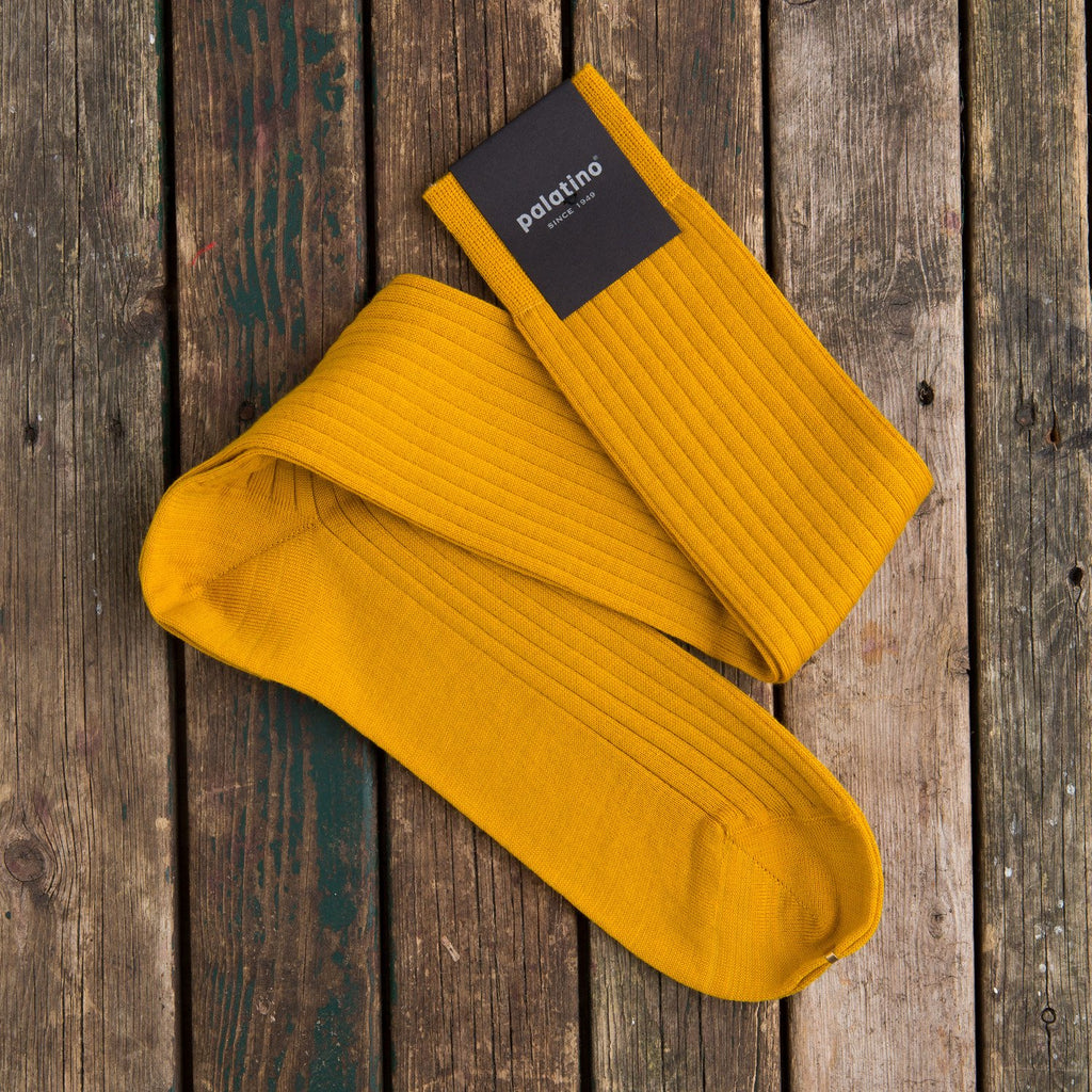 Palatino wool socks ochra