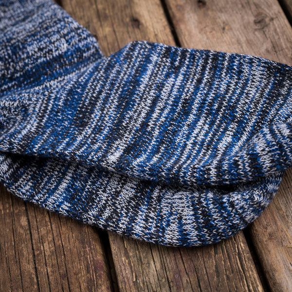 American Trench random plait socks blue