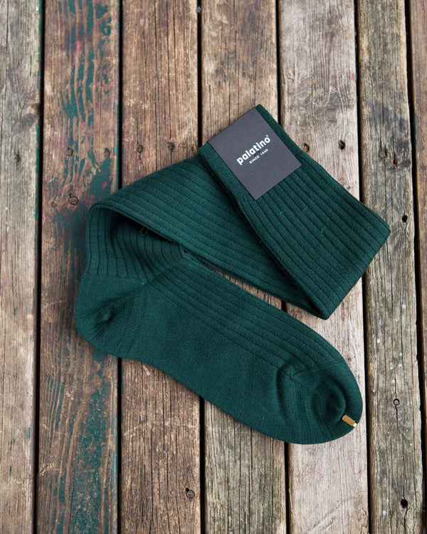 Tartan green wool socks Palatino Rome