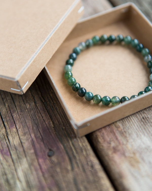 6 mm gemstone bracelet forest
