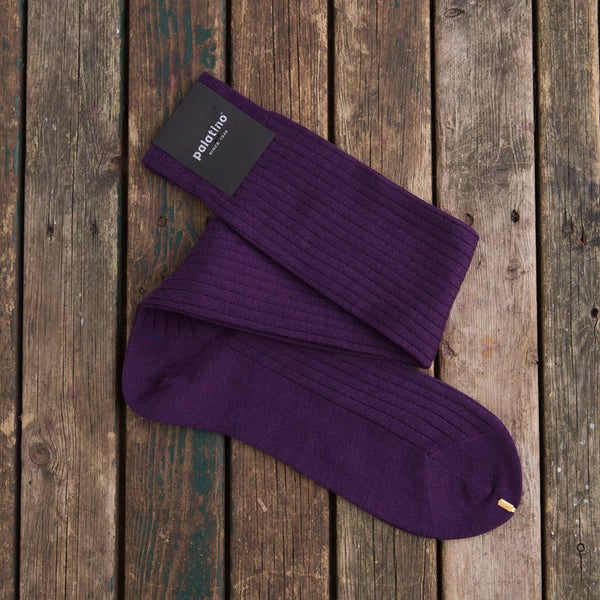 Purple Palatino Rome long wool socks