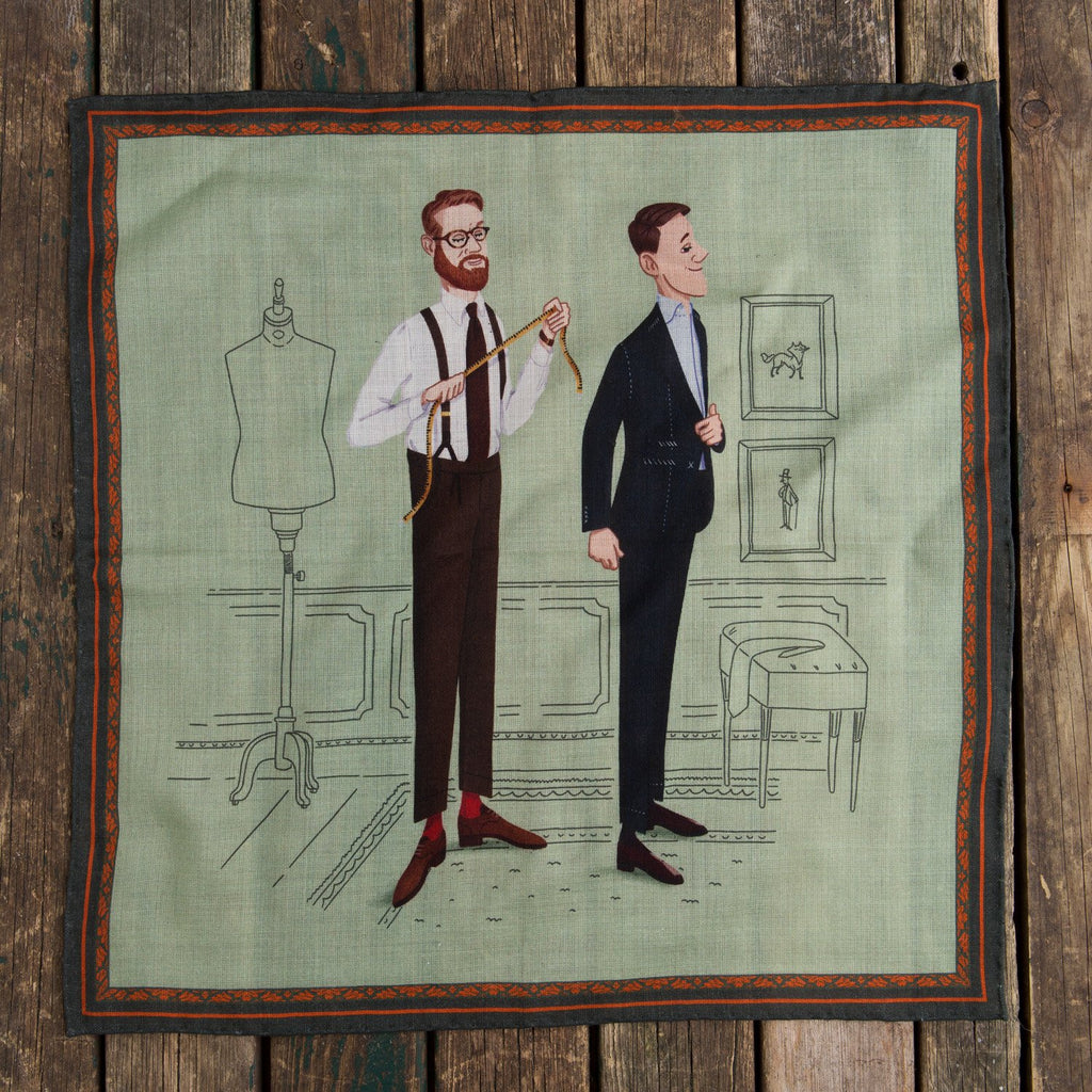 Olof Made-To-Measure pocket square