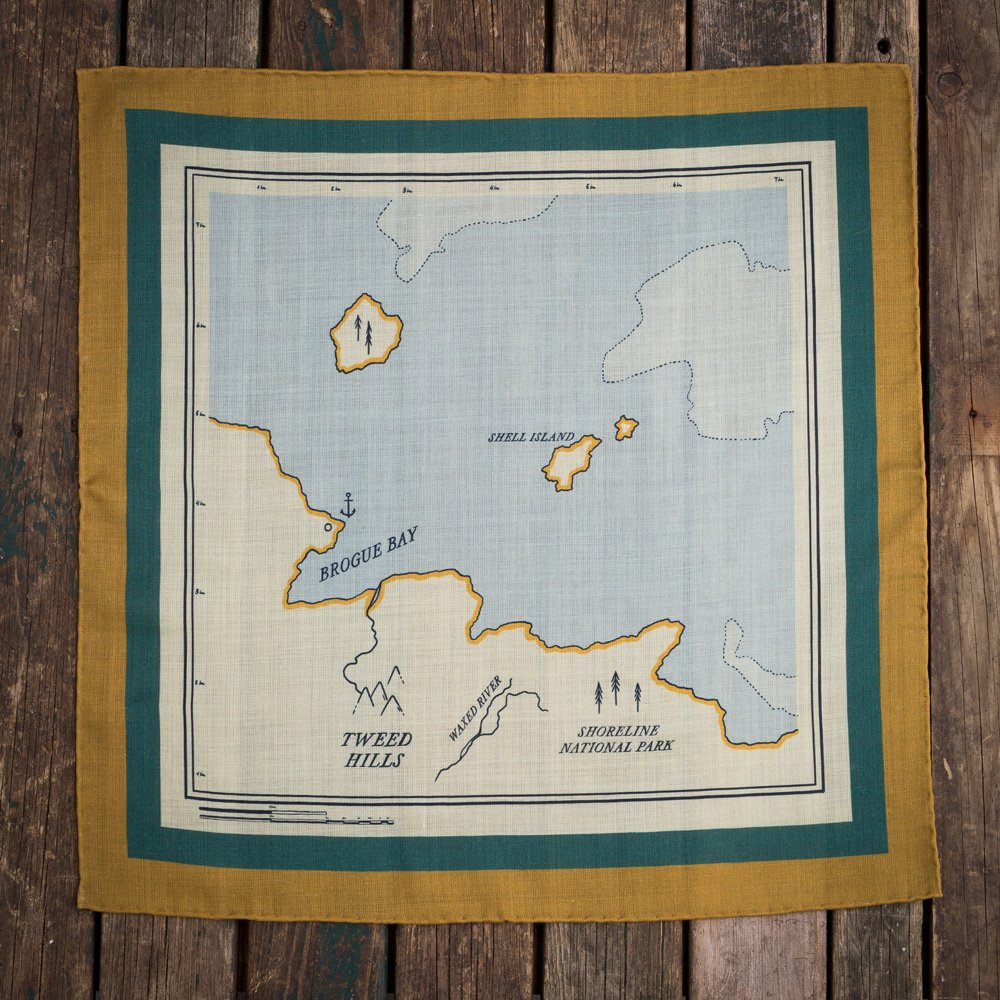 The Map pocket square