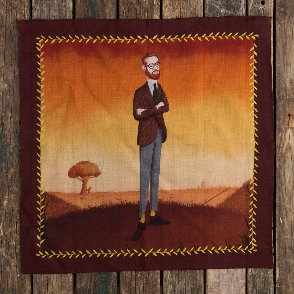 Olof tweed pocket square