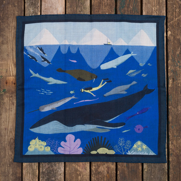 The Diver pocket square