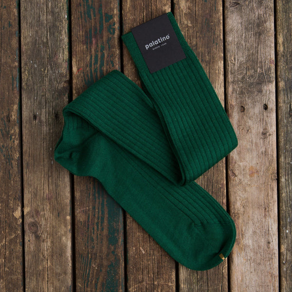 Palatino wool socks grass green