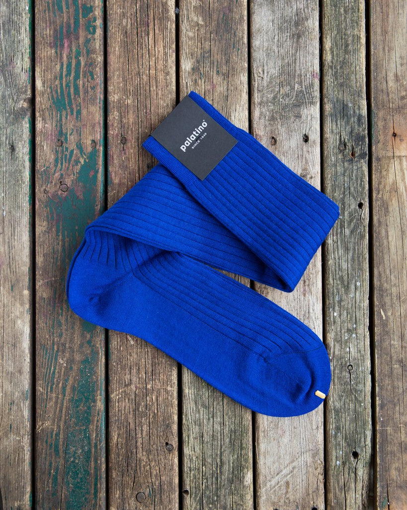 Royal blue wool socks Palatino Rome