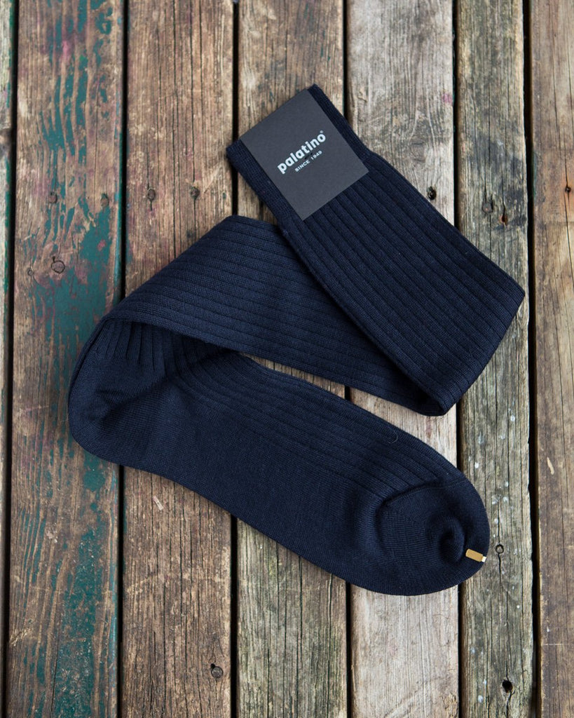 Navy blue wool socks Palatino Rome