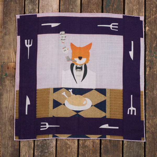 The hungry Fox pocket square