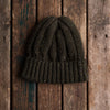 Olive donegal wool knit hat