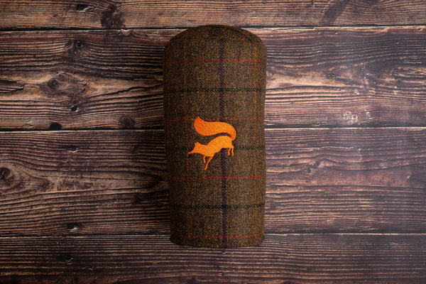 Tweed wool golf headcover