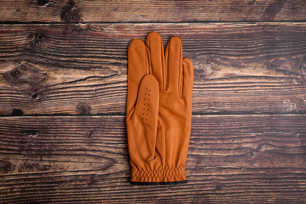 Golf glove brown leather