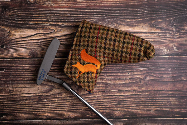 Tweed putter headcover guncheck