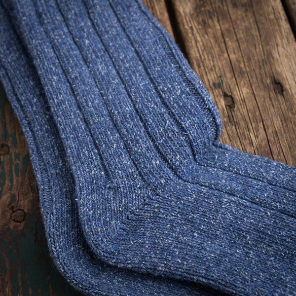 American Trench tweed denim rib socks