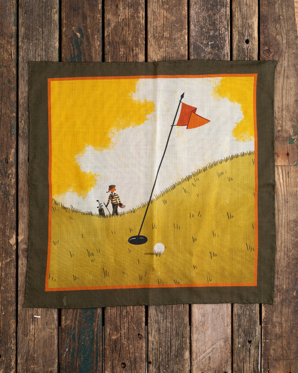 The Golfing Fox pocket square