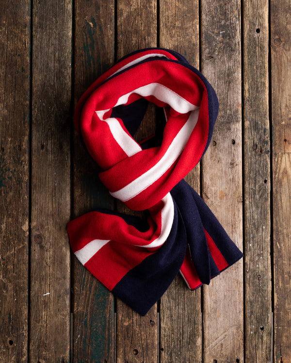 University stripe cashmere scarf