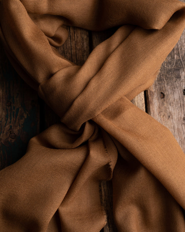 Camel solid oversize merino scarf