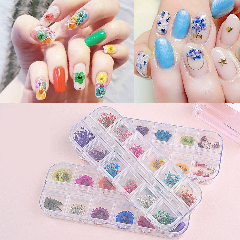 UV Resin Crystal Glue&Dried Flower Set