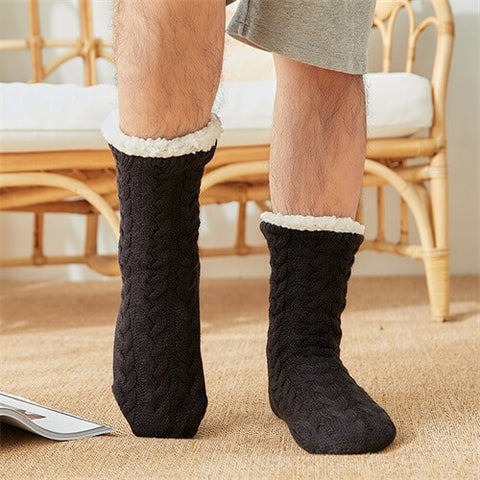 Mens Extra-Soft Fleece-lined Socks