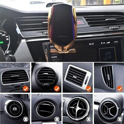 R2R9 Wireless Automatic Sensor Car Phone Holder & Charger