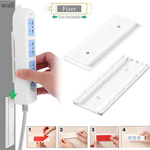 3 Pcs Self Adhesive Power Strip Holders