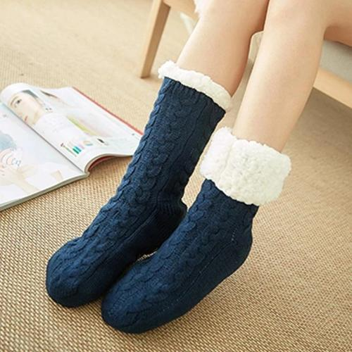 Fleece-lined Slipper Socks For Women