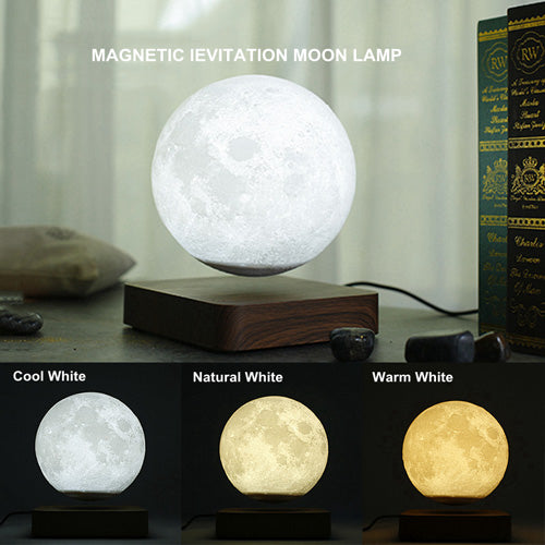 Creative 3D Magnetic Levitation Moon Lamp Night Light
