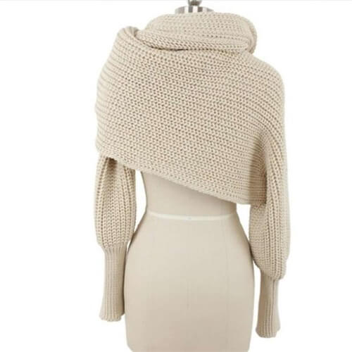 Crochet Sweater-Scarf With Sleeves