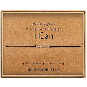 Morse Code Alphanumeric Couple Bracelet - I CAN