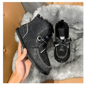 Holiday Promotion 40% Off - Rhinestone Waterproof Snow Boots