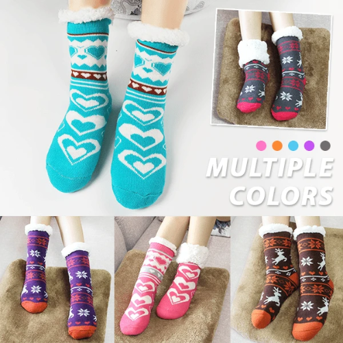 Womens Fleece Slipper Socks