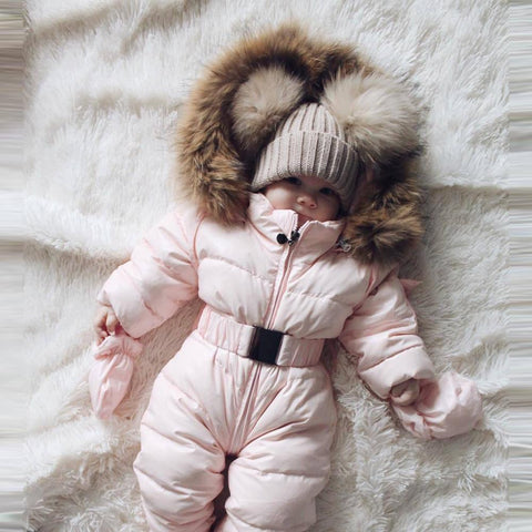 Hooded Baby Snowsuit | Mindful Yard