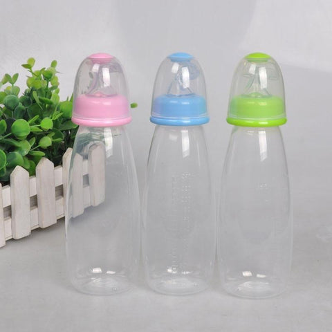 Silicone Baby Bottle With Spoon