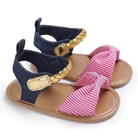 Baby girls bow sandals - Mindful Yard