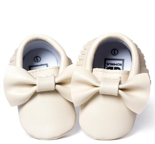 Mindful Yard Baby First Walkers Beige / 13 FREE Baby Bow Moccasins (Limited Edition)