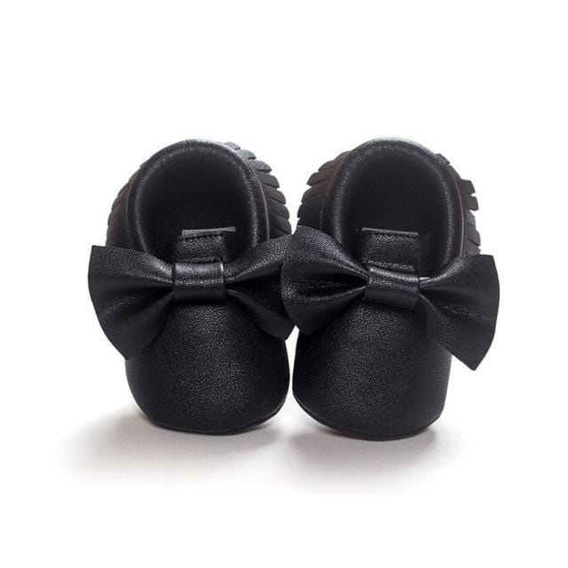 Mindful Yard Baby First Walkers Black / 11 FREE Baby Bow Moccasins (Limited Edition)