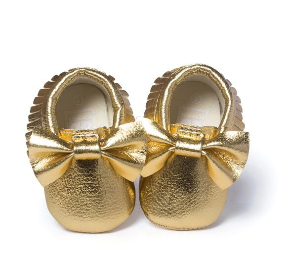 Mindful Yard Baby First Walkers Bright gold / 11 FREE Baby Bow Moccasins (Limited Edition)