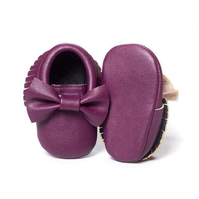 Mindful Yard Baby First Walkers Deep purple / 12 FREE Baby Bow Moccasins (Limited Edition)