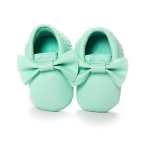 Mindful Yard Baby First Walkers Green / 11 FREE Baby Bow Moccasins (Limited Edition)
