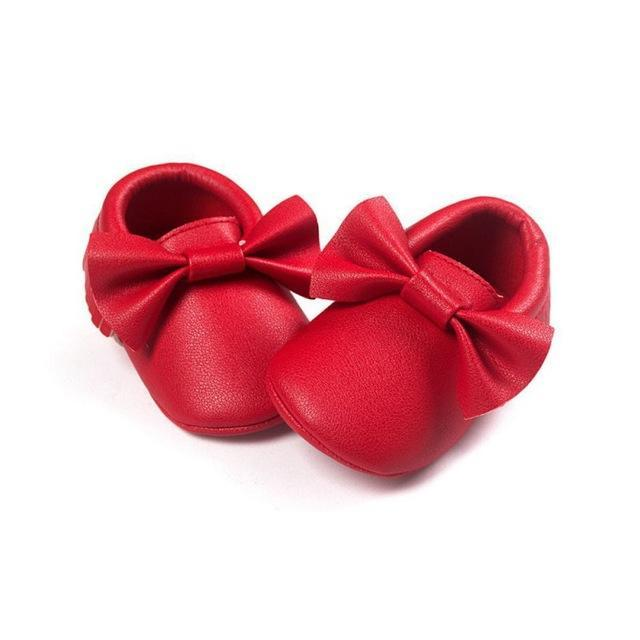 Mindful Yard Baby First Walkers Red / 13 FREE Baby Bow Moccasins (Limited Edition)