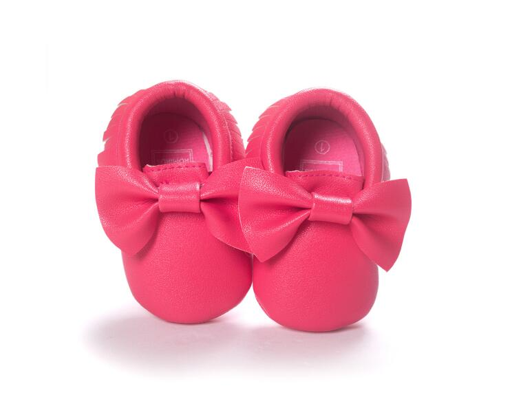 Mindful Yard Baby First Walkers Rose red / 11 FREE Baby Bow Moccasins (Limited Edition)