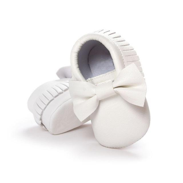 Mindful Yard Baby First Walkers White / 13 FREE Baby Bow Moccasins (Limited Edition)
